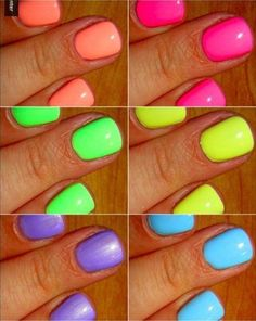 Best neons for summer neon nail polish, neon nails, nail polish colors, love Neon Nail Polish, Neon Nails, Nail Polish Colors, Love Nails, How To Do Nails, Pretty Nails, My Nails, Nail Polishes, Neon Nail Colors