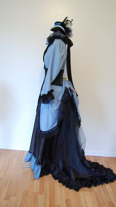 Steampunk Victorian inspired costume with corset and by hhfashions, $350.00