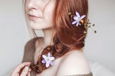 Redhead  Flower shoot Fairytale portrait