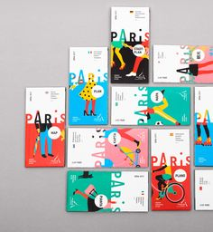 The graphic design agency Graphéine worked on a re-branding project to come up with a bold new look for the Paris Convention and Visitors Bureau. In a smart and Layout Design, Flugblatt Design, Buch Design, Cover Design, Print Design, Logo Design, Design Agency, Identity Design, Logo And Identity