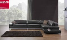 Furniture, Gorgeous Leather Sofa With Metal Frame Designed In Large Size With Black Colors Stand On Amazing Parquet Flooring Coupled With Bl. Living Room Style, Affordable Furniture, Leather Corner Sofa, L Shaped Leather Sofa, Bedroom Furniture Sets, Furniture, Small Corner Couch, Contemporary Furniture, Sofa Set Online