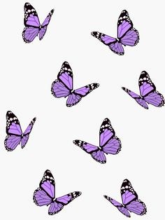 Buy 'Lavender Butterflies' by maiaswamy as a Sticker, Transparent Sticker, or Glossy Sticker Purple Butterfly Wallpaper, Purple Wallpaper Iphone, Disney Phone Wallpaper, Iphone Wallpaper Tumblr Aesthetic, Iphone Background Wallpaper, Aesthetic Pastel Wallpaper, Butterfly Background, Lavender Aesthetic, Purple Aesthetic