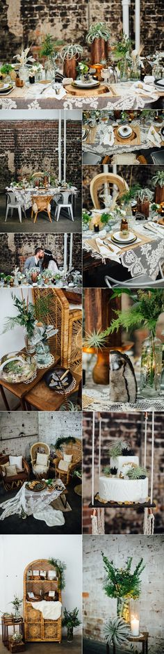 earthy industrial bohemian wedding ideas / http://www.deerpearlflowers.com/industrial-wedding-theme-ideas/