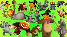 Happy Halloween Wild Animals Learn Names with Cartoon & Real for Children | Halloween Makeup!