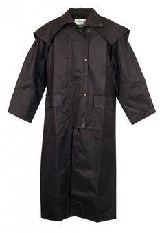3001 Battler Long Coat Brown. Oiled Cotton Coat by Jacaru.