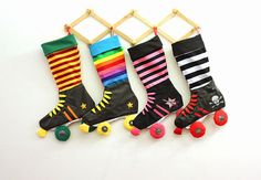 Rainbow Roller Derby Skate Christmas Stocking