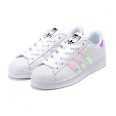 Adidas Superstar Casual Shoes Laser Symphony white ($59) via Polyvore featuring shoes, adidas, adidas footwear, adidas shoes and white shoes