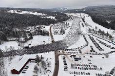 Start of Vasaloppet ski race in Sälen, Sweden Photo: Vasaloppet/Niss Schmidt Beautiful World, Beautiful Places, Museum Island, Visit Stockholm, Nordic Skiing, Visit Sweden, Sweden Travel, Free Museums, Winter Scenery