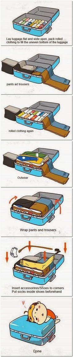 Packing tips, to make fitting everything in your suitcase a breeze! Packing tips, to make fitting everything in your suitcase a breeze! Packing tips, to make fitting everything in your suitcase a breeze! Packing Tips For Travel, Travel Essentials, Travel Hacks, Packing Hacks, Travel Ideas, Budget Travel, Packing Ideas, Packing Lists, Packing Cubes