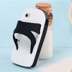 Trendsetting Stylish Cute Mixing Color Slippers Phone Case for iPhone4s/5