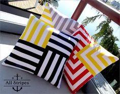 Nautical+&+Nice:+Spun+Stripes+Pillow+Trio