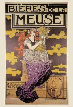 ANTIQUE BEER Art Nouveau Poster brew Art par EncorePrintSociety