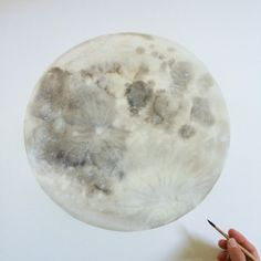 DIY Inspiration: the moon in watercolour