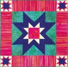 Starburst Wall Quilt - Would be cute as a Christmas Wall Hanging