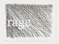 Monica Bonvicini Off The Grid (rage) - 2011  tempera on paper, acrylic glass panels, screws 271 x 364 cm; 106 2/3 x 143 1/3 in 298 x 391.8 x 1 cm; 117 1/3 x 154 1/4 x 1/2 in unique