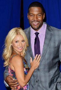 Live With Michael and Kelly. Reporting from press conference with Kelly Ripa and Michael Strahan.