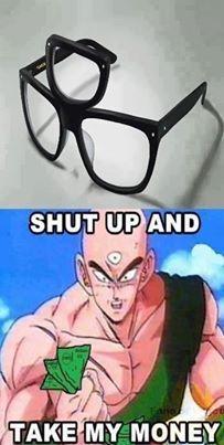 DBZ Tien 3 eyed glasses lol