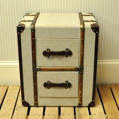 Canvas 2 Drawer Trunk Chest or Bedside Table – Allissias Attic & Vintage French Style