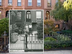 A photograph from 1978 fits right in with a contemporary shot of President Street in Carroll Gardens. Amazing.