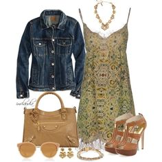 Summer Dress with a Denim Jacket