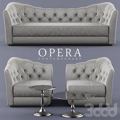 Диван, кресло, столики opera BUTTERFLY