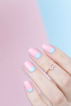 rose quartz nails, serenity nails