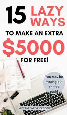 15 Legit Easy Ways to make extra cash every monthLooking for a side hustle to start making money fast from home? Here ways to get FREE Money! You can make money online by doing these easy thing. Make Money Fast Online, Make Money Now, Make Easy Money, Ways To Earn Money, Earn Money From Home, Make Money Blogging, Saving Money, Get Money Fast, Quick Money