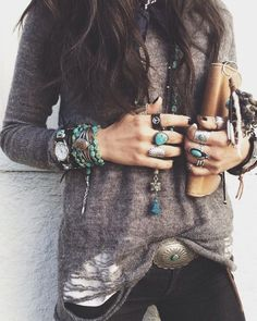 Trendy ideas for fashion boho winter indie hippie chic Boho Hippie, Hippie Style, Looks Hippie, Bohemian Mode, Gypsy Style, Boho Gypsy, Boho Chic, Edgy Bohemian, Beach Hippie