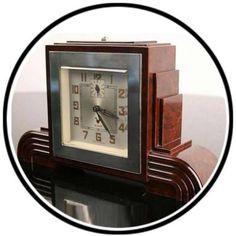 Art Deco Bakelite #clock #artdeco