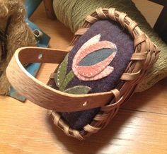 Handwoven Basket Wool Pin Cushion by OldeGreenCupboard on Etsy, $25.00