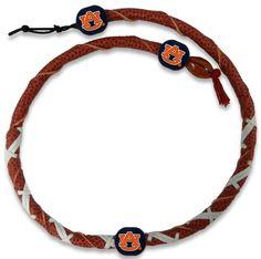 Auburn Tigers Classic Spiral Football Necklace