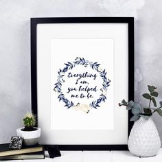 Everything I Am You Helped Me To Be Print by Izzy & Pop, the perfect gift for Explore more unique gifts in our curated marketplace. Notes Free, Dog Cards, Gift Labels, My Everything, Watercolor Print, Help Me, Mother Day Gifts, Appreciation, Birthday Gifts