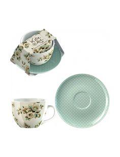 Jogo de chá de porcelana Katie Alice - 2 pçs