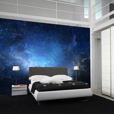 Fancy - Night Sky Nebula Wall Mural - bedroom ceiling