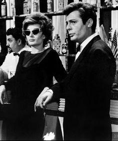 """Anouk Aimee and Marcello Mastroianni in """"La Dolce Vita"""" - 1960"""