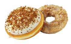 Savor the season with Krispy Kreme Pumpkin Spice and new Pumpkin Cheesecake doughnuts.