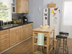 Small, movable kitchen island carts offer flexibility and mobility to kitchens of all sizes.