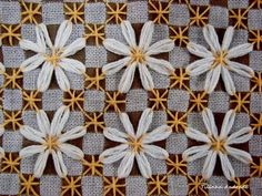 chickenscratch embroidery with lazy daisy stitches