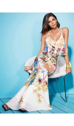 77870986b19 Get ready for summer in this beautiful tropical print maxi dress from Forever  Unique. Team LBD recommends  Chunky gold accessories and a bronzed glow is  ...