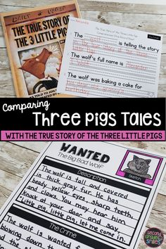 Reading The True Story of the 3 Little Pigs? This folktale unit was created for use with The True Story of the Three Little Pigs by Jon Scieszka and a more traditional retelling of The Three Little Pigs. includes writing prompts, Venn diagrams, text dependent questions, and more! Teaching Second Grade, Second Grade Teacher, 2nd Grade Classroom, 3rd Grade Math, Third Grade, Teaching Vocabulary, Teaching Phonics, Summary Writing, Writing Prompts