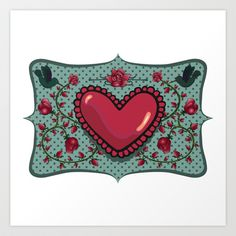 love and roses Art Print by Dachie - $15.00