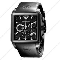 a5b0ca392b7 Emporio Armani AR0658 - Mens Classic Chronograph Rubber Sports Watch