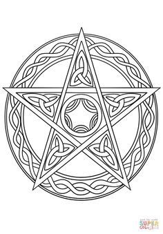 Gothic Architecture Coloring Pages Awesome Wiccan Pentagram Super Coloring – Coloring Books Gallery Witch Coloring Pages, Printable Adult Coloring Pages, Free Coloring Pages, Coloring Books, Pentacle, Wiccan Crafts, Free Stencils, Book Of Shadows, Graphic