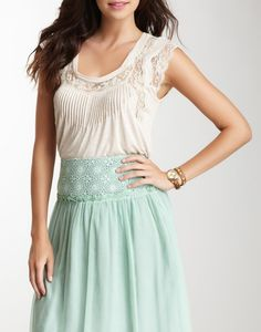Blue Tassel Lace Knit Top - Save Free Silver Today... To Buy This Tomorrow. ...http://tiny..cc/SaveFreeSilver
