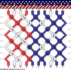 Bracelet pattern for the American flag
