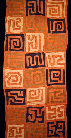I became nutty over Kuba Cloth when I bought my first piece. The designs are endless and they work as table runners and cloths and wall hangings. When not in use they fold easily for storage. Indigo Arts Gallery | Art from Africa | Kuba Textiles