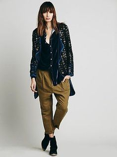 NWT Free People Slouchy Cropped Utility High Rise Pant Size 2 in Fawn $128