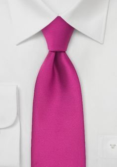 Solid Necktie in Hot Magenta-Pink