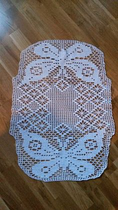 Made by Chippzan: Virkad duk Crochet Lace, Doilies, Projects To Try, Crochet Patterns, Rugs, Baby, Crochet Edgings, Farmhouse Rugs, Towels