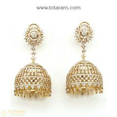 New Arrivals - Latest gold and diamond jewelry collection - Totaram Jewelers Online Indian Wedding Jewelry, Indian Jewelry, Diamond Earing, Diamond Jewelry, Royal Indian, Ear Studs, Necklace Set, Jewelry Collection, Crochet Earrings